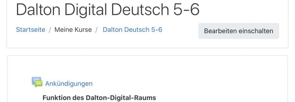 Dalton Digital und weitere Strukturen zum Schulstart